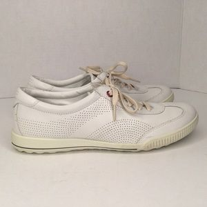 Ecco white leather sneakers.